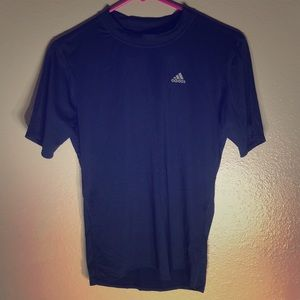 Adidas Navy Blue Climalite Shirt